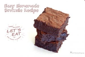 Easy homemade brownie recipe