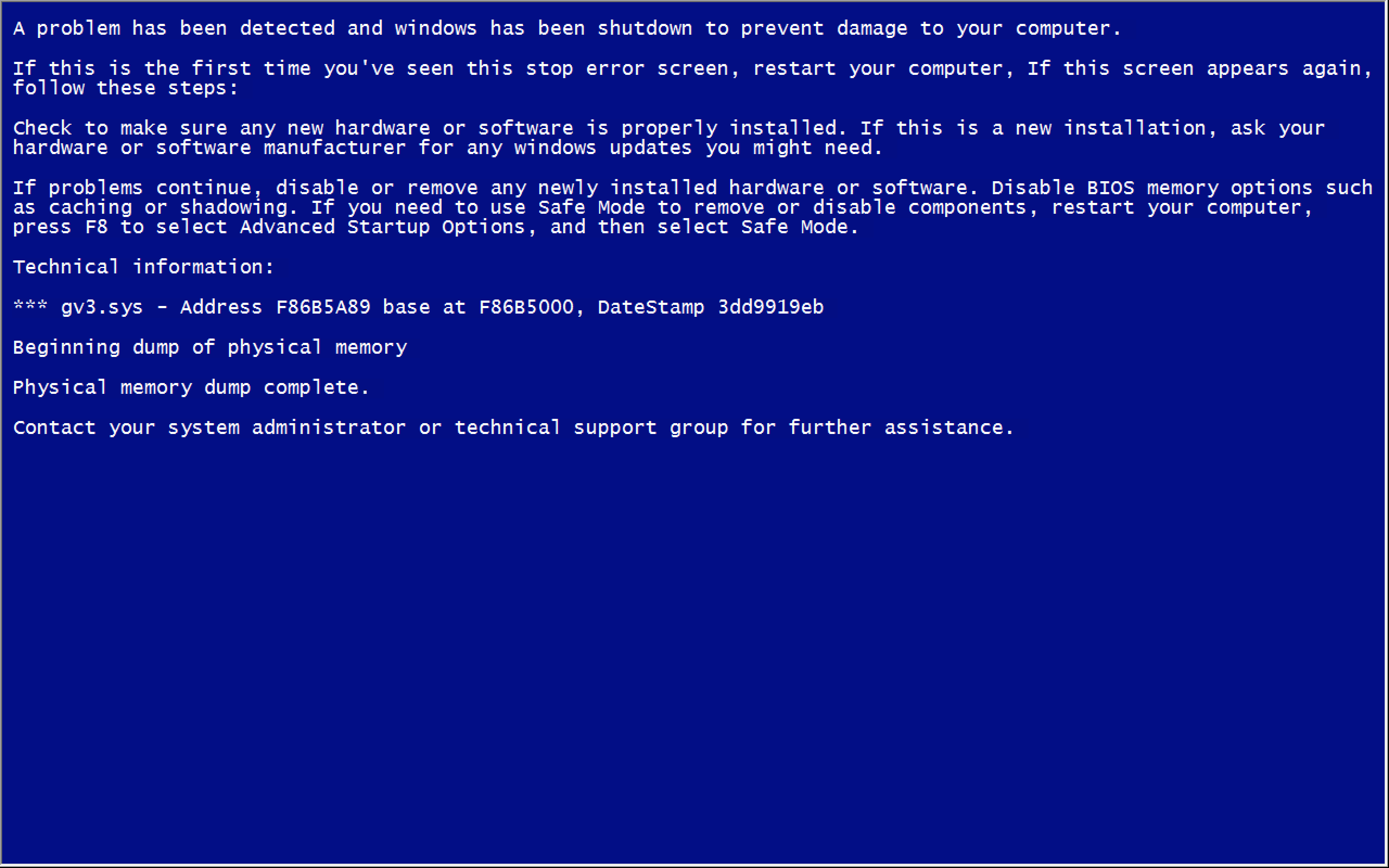 immagine bsod windows