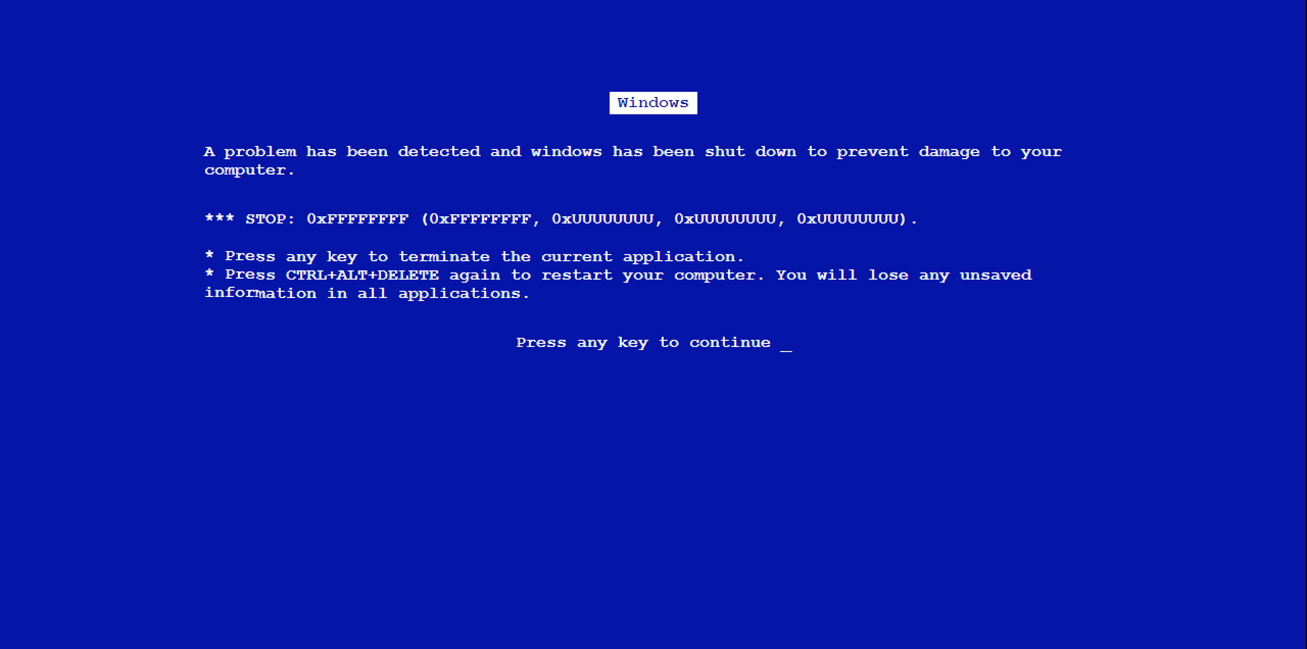 How to Create Fake Blue Screen of Death in your Window ...