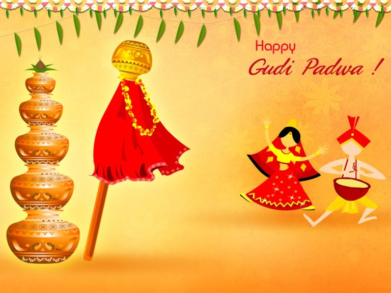 gudi padwa wishes 2018 gudhi padva sms status whatsapp messages facebook quotes images greetings gudhi padwa is celebrated as marathi new year in