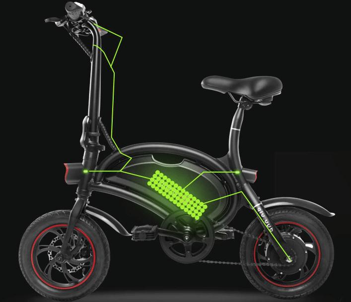a424944b83e F – wheel DYU D2 Folding Electric Bike Features [ Best E-bike 2017 ...
